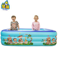 Big size outdoor kids Plastic inflatable swimming pool rectangle