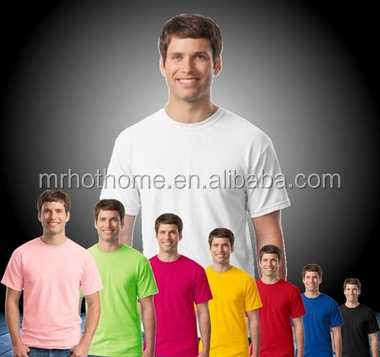 100% cotton adult plain t-shirt men