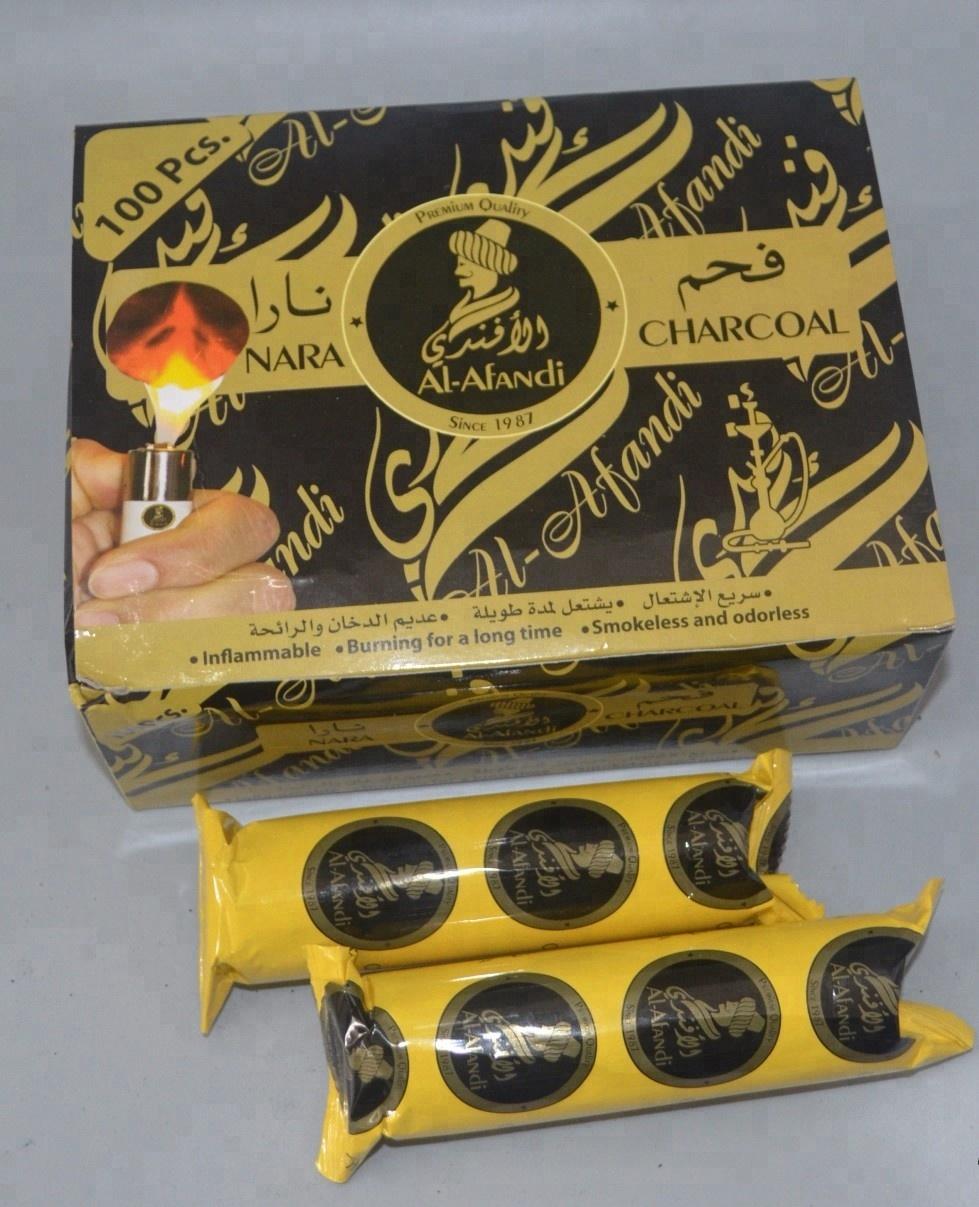 HongQiang Fruit Wood Instant Light Round Shisha Charcoal