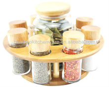 Glass Spice Canister Set