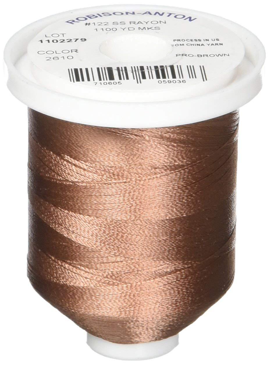 Robison-Anton Rayon Super Strength Thread, 1100-Yard, Pro-Brown