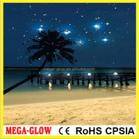 Wholesale Radiance Lighted Canvas Wall Art, Starry Night Beach Canvas Design, from our Everyday Collection