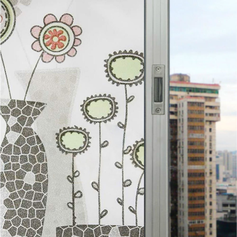 Window Glass Film Paper Self Adhesive Paper Pvc Vase Pattern