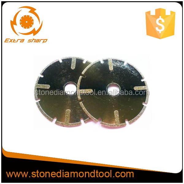 Continuous Rim Electroplated Diamond Saw Blade with Protection Segments
