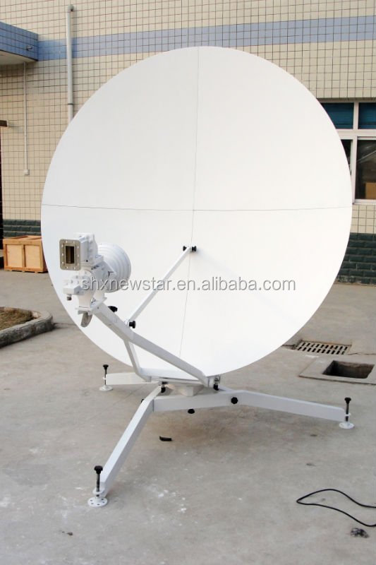 hot sale China 1.8m parabolic offset Tx Rx C Ku band portable fly away satellite dish antenna
