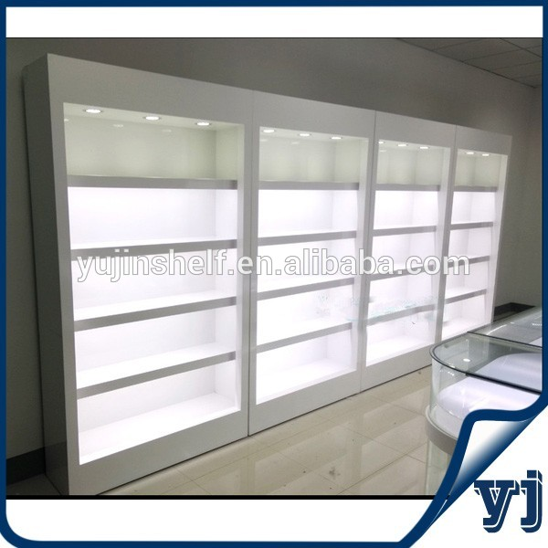 Wooden Veneer Wine Display Cabinet / Cigarette Display Cabinet For ...