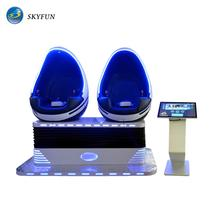 Skyfun Factory Top sale NINE D Virtual Reality Game Machine 1/2/3 Seats egg vr Cinema virtual reality 9d simulator