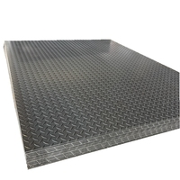 Checkered Plate sheet metal processing Black Tear Drop Plate Of galvanized steel floor decking sheet