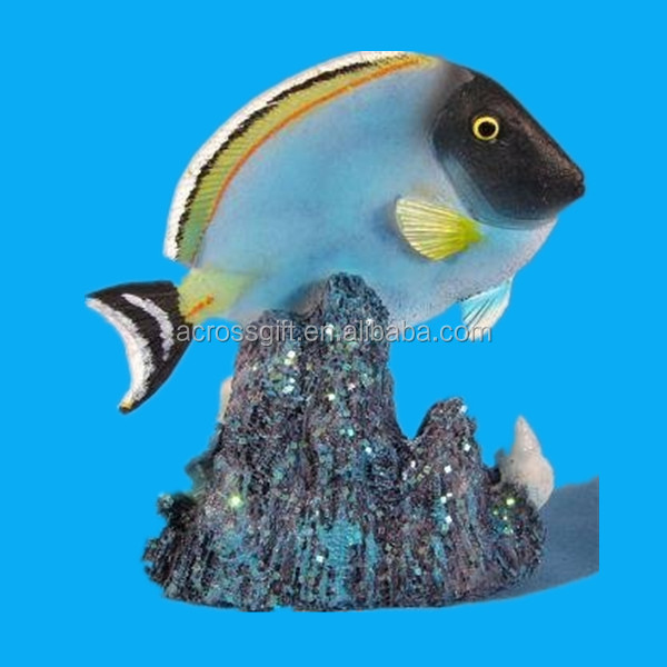 indoor home decorative artificial tropical resin fish