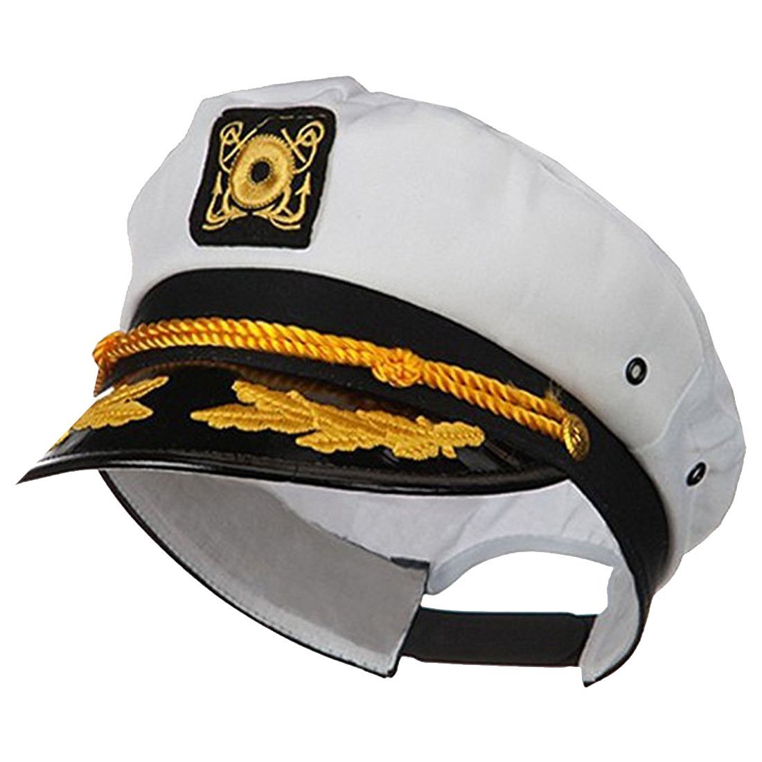 d9f366bd298 Get Quotations · Jacobson Hat Company Adult Ship Navy Officer Yacht Sea  Skipper Captain Hat Cap Costume Accessory