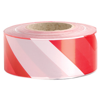 safety topic red and white barrier tape crossing tape warning tape