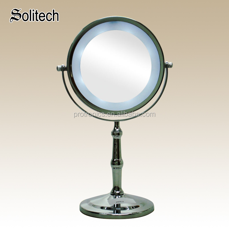 OEM ODM cosmetic LED table mirror double sided magnifying table mirror