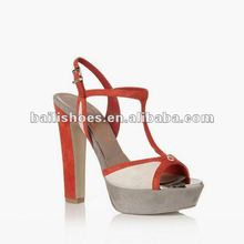 2012 high heel ladies sandal with bowknot decoration