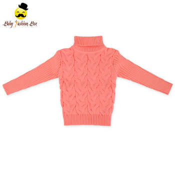 2lyf131 Yihong Wholesale Long Sleeve Pink Solid Color Knitted Baby