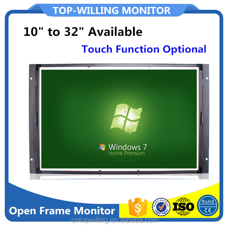 Hot No Frame Touch Screen LCD Monitor 19 inch Resisitve/SAW/Capacitive/IR Touch Panels Optional