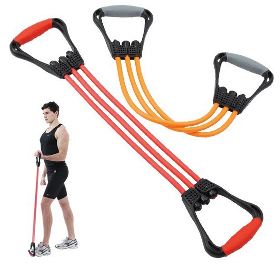 Flexible resistance bands,fitness bands and fitness 60cm bands, set of 5 with carry bag for yoga training