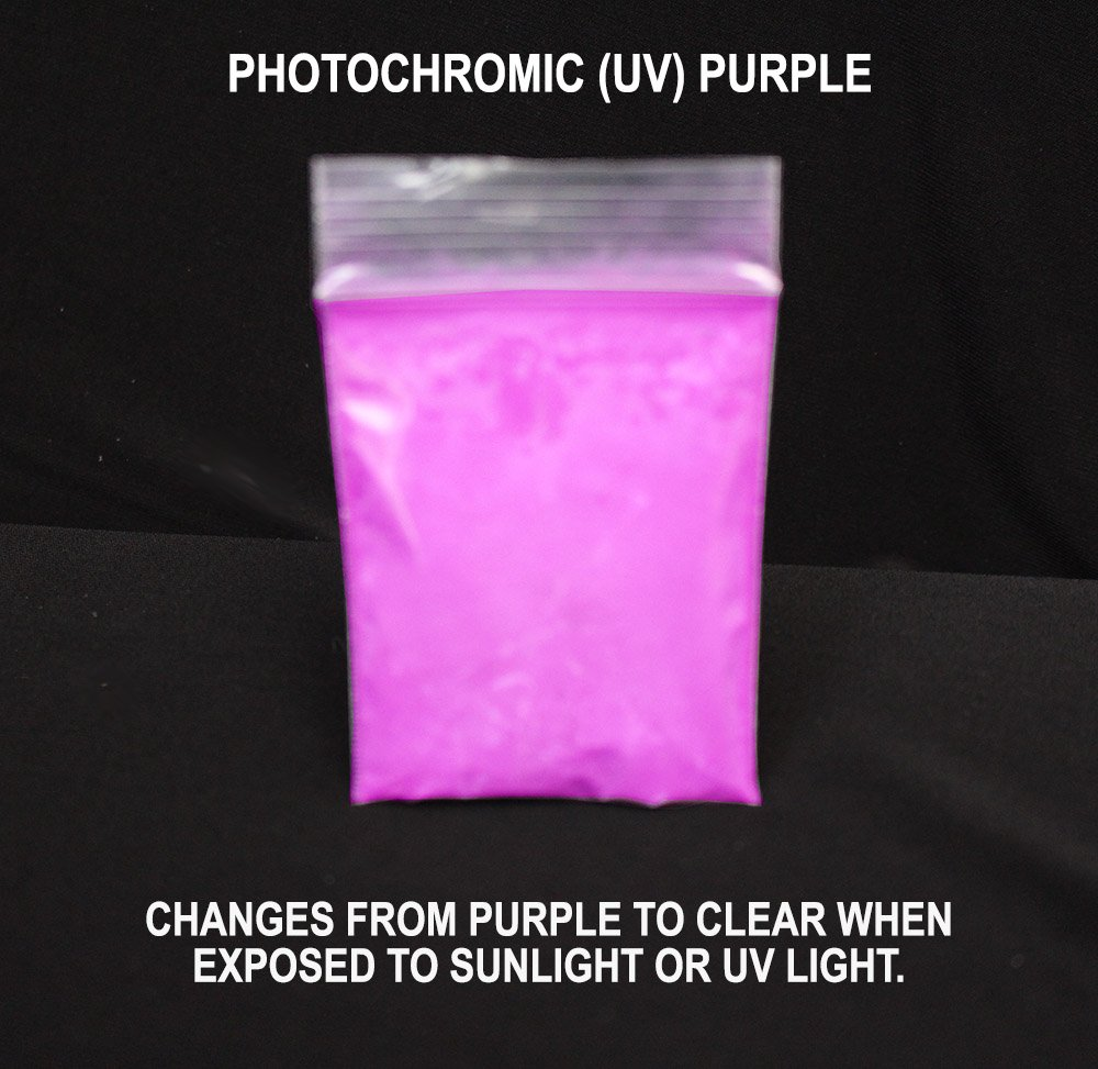 f77b9a00d80 Get Quotations · Purple Photochromic (UV) Pigment - Changes from  Clear White to Purple in the