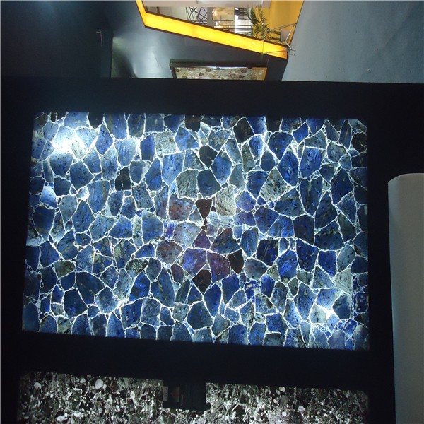 Rare Blue Gemstone/Dark Blue Gemstone tiles from factory