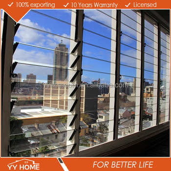 YY Home aluminum frame glass louvres/openable louvre window/window shutters