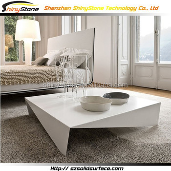 Abnormal shape square shape solid surface marble coffee - Table de salon reglable en hauteur ...
