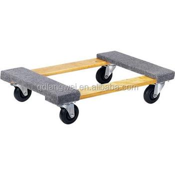 Hardwood Furniture Moving Dolly Cart Buy Dolly Cart Moving Cart Furniture Cart Product On