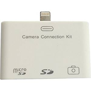 "4Xem Lightning Camera Connection & Card Reader Kit For Ipad/Ipad Mini . Sd/Micro. Sd/Usb . Microsd Card, Secure Digital (Sd) Card . Proprietary Interface ""Product Type: Flash Devices/Flashcard Readers"""
