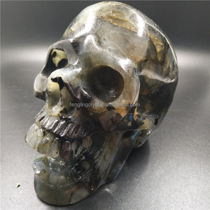 Wholesale Natural carved Healing labradorite quartz skulls stone crystal