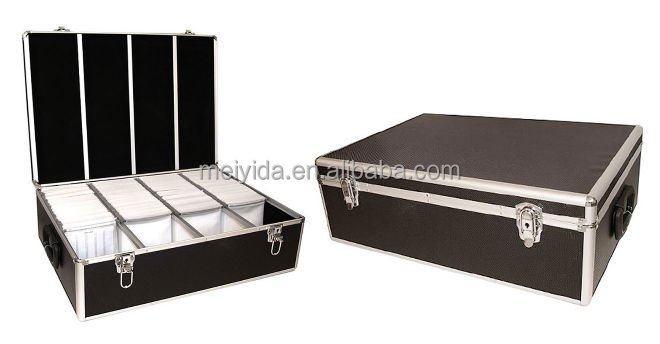 Factory supply Aluminum 1000 CD storage Case D-909
