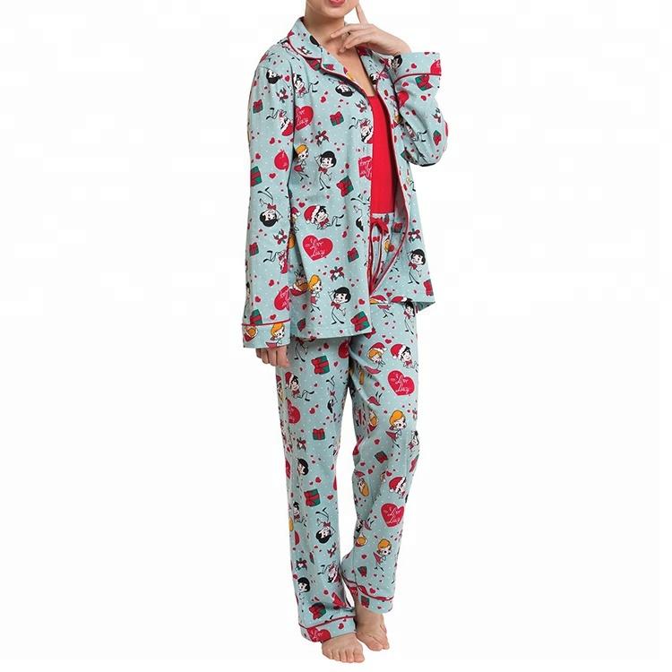 Cotton Dog Print Boyfriend Style Christmas Pj Set - Buy Custom Printed  Pajamas,Pure Cotton Pj Set,Women Nighty Product on Alibaba com