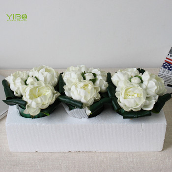 Realistic Looking White PU Faux Flower Arrangement