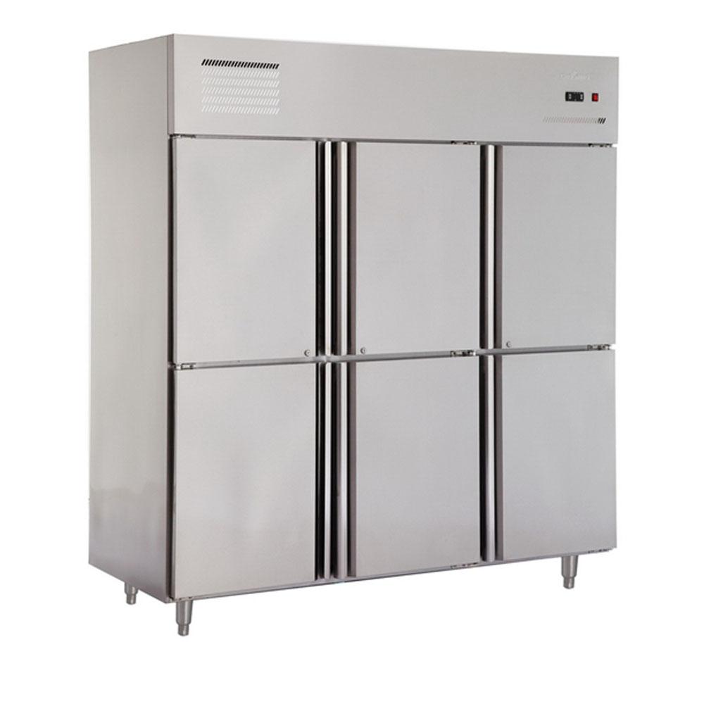 שונות איכות גבוהה 6 דלת זקוף מקרר מסחרי/מטבח נירוסטה Chiller תעשייתי GL-11