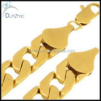 Hip hop Style 14k Gold Layered Curb 15 mm Chain