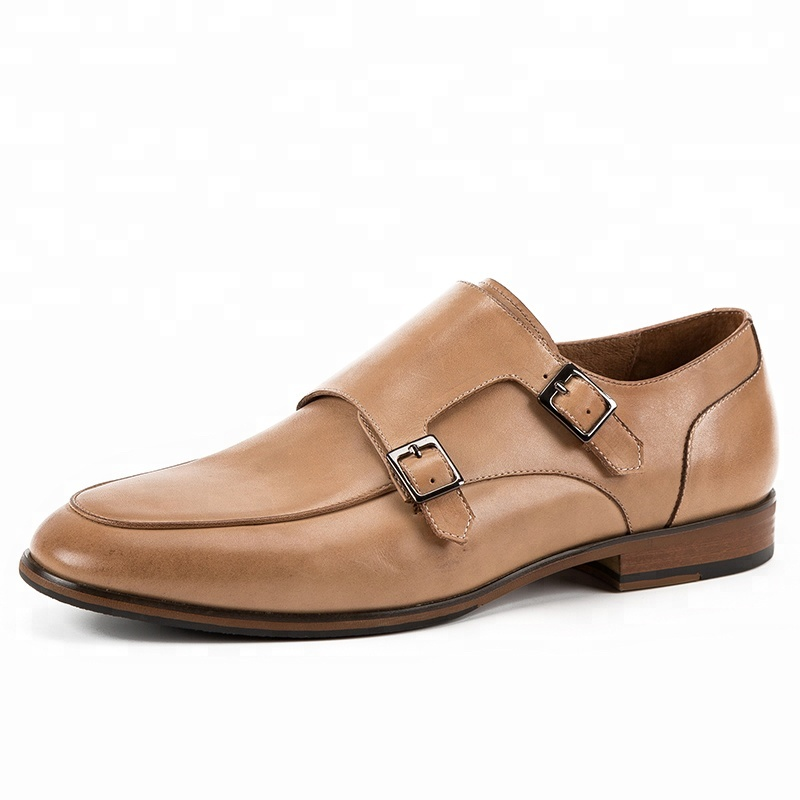 brand designer Hot leather monk men new Italian dress genuine calf shoes strap dHHqURTw