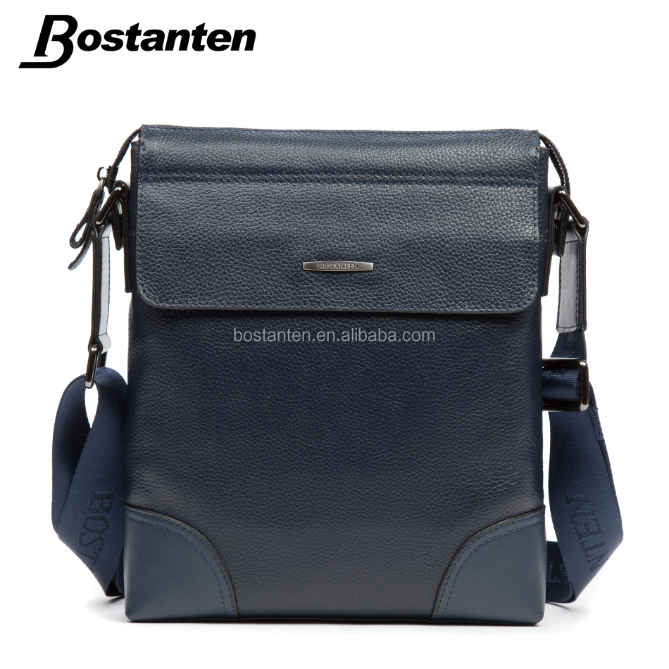 Italian style branded men leather shoulder bag laptop messenger bag