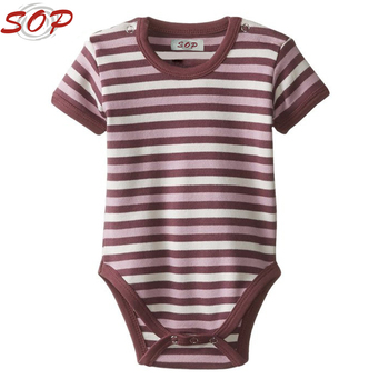 2016 Wholesale New Born Baby Clothes Summer Cotton Romper