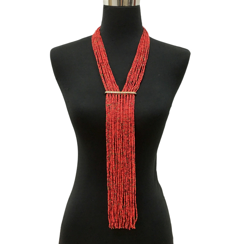 Fashion Jewelry 2019 handmade jewelry necklace Popular Long Chain Tassels Beads Necklace, 10 colors