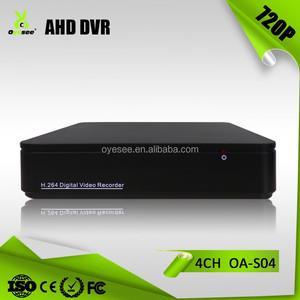OA-S04 4 chennel 720P AHD DVR support 4pcs 720P AHD Camera Audio in out 4TB HDD H.264 cctv camera dvr price