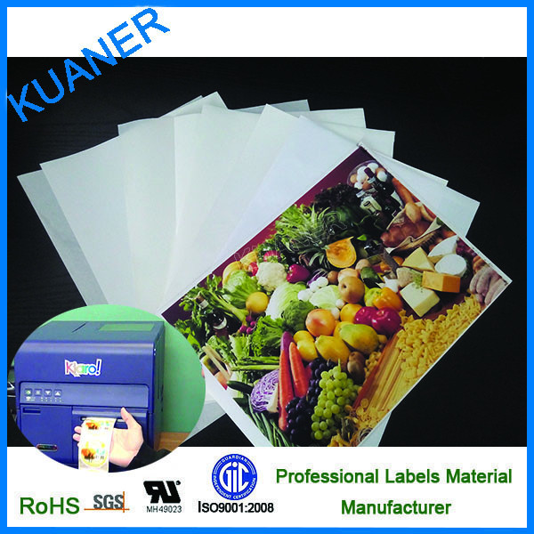 PP synthetic label self adhesive label inkjet paper
