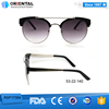 womens UV400 high quality private label round sunglasses