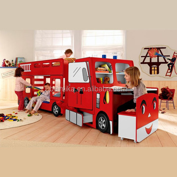 fire engine kids children bunk car bed