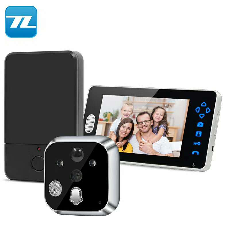 "7"" Inch HD Color Display Electronic Viewer Cat Eye Doorbell Camera Peephole"