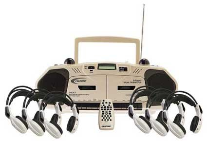 Califone 2395IRPLC-6 Wireless Infrared Cassette/Recorder Music Maker 6-Person Learning Center
