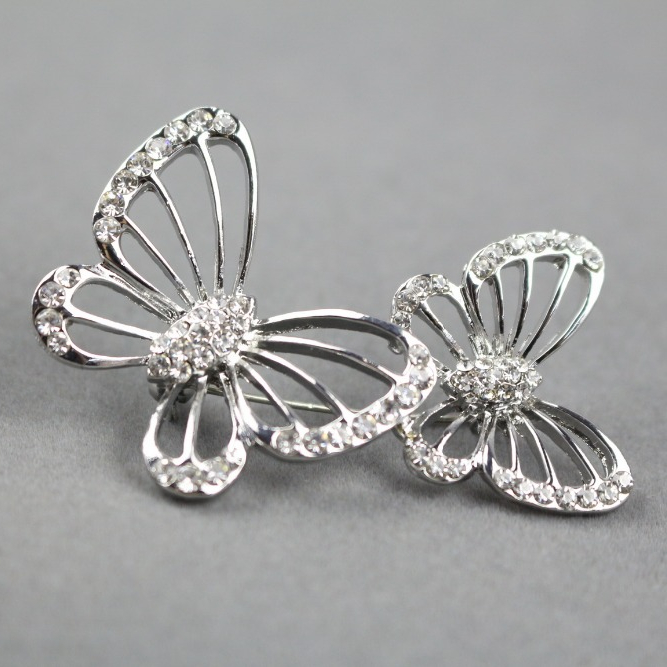 Marvel Latest wholesale vintage jewellery Feather butterfly safety fancy brooch pins
