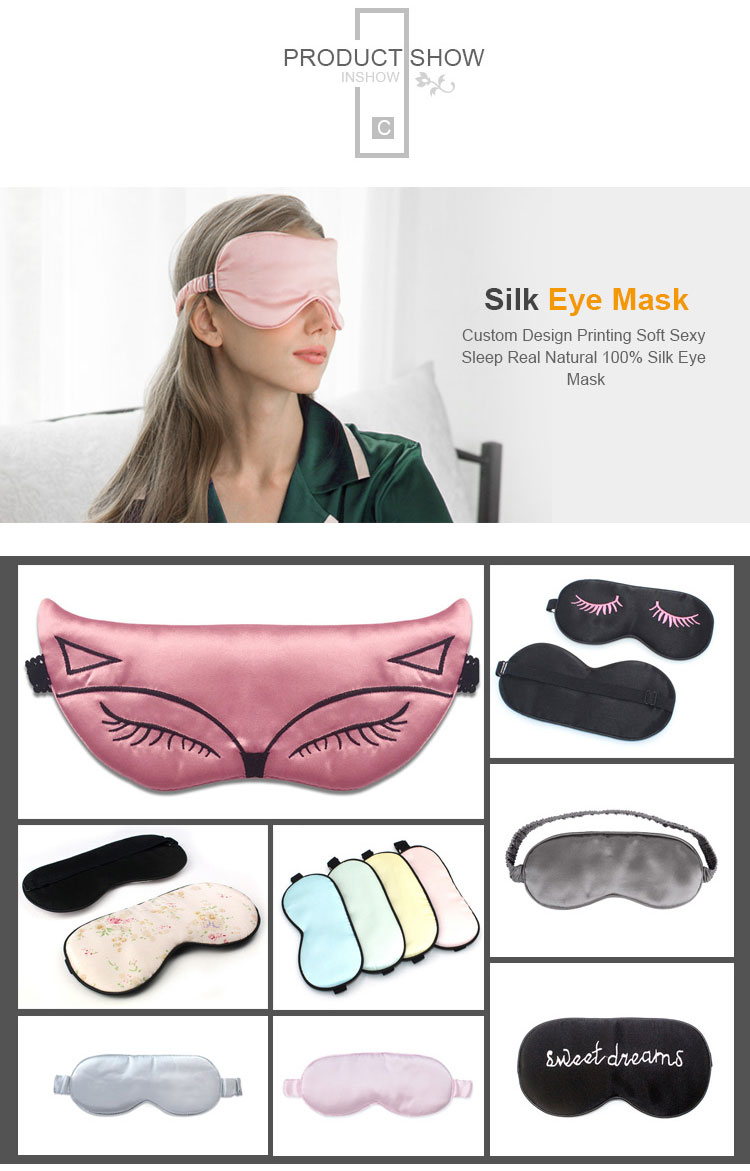 Seta Di gelso di Viaggio Maschera per Gli Occhi Per Dormire