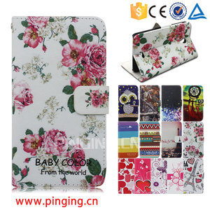 Color printing leather with card slots mobile phone accessory for Samsung Galaxy J Max