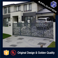 Great value aluminum residential driveway main gates design