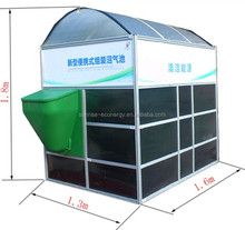 Assembly portable small biogas anaerobic digester plant for household waste treatment