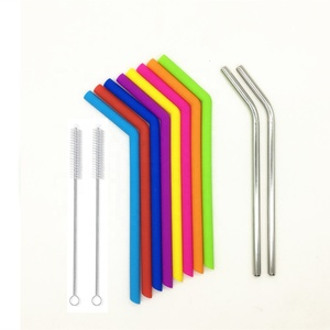 Benhaida Reusable folding telescopic flexible drinking silicone straws