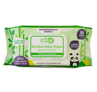 FDA approval gentle formula 100% biodegradable organic bamboo baby wet wipes