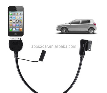 Apps2car For Iphone 4 4s Ipod Ami Mmi Audio Interface Adaptor Cable For  Audi A3 A4 A5 A6 A7 A8 Q5 Q7 - Buy Music Interface Cable,Audio Interface